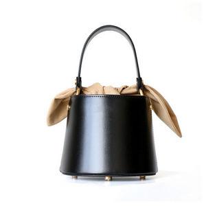 New Black Bucket Bag Soft Lining 2 straps